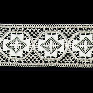 "Embroidered Lace #3789  /  yard (4 1 / 2"" wide)"