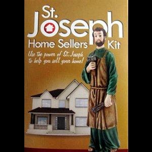 Statue saint joseph 3 5 9 cm en r sine kit vente maison - St joseph vente de maison ...