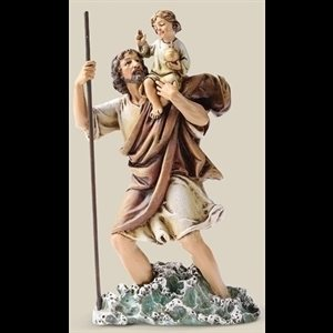 "Saint Christopher Resin Statue, 6.25"" (16 cm)"