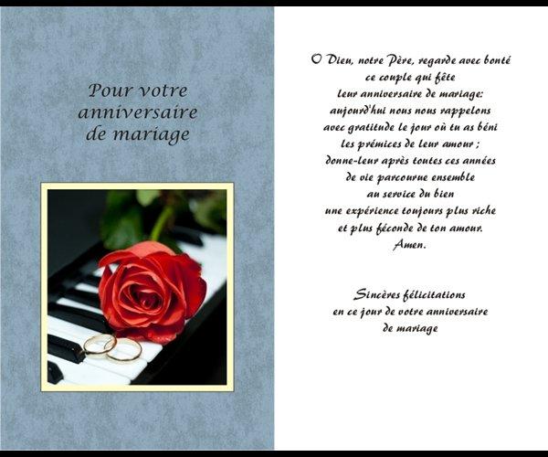 Carte Anniversaire Mariage 525 X 85 Un