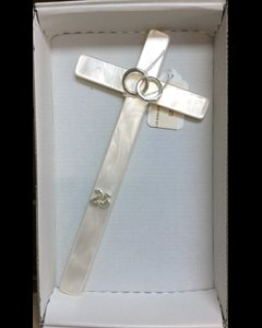 "25th Anniversary cross Imitation Mother of Pearl 8"" (20 cm)"