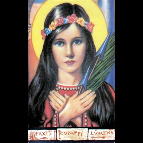 "Magnetic Card St. Philomena, 2 1 / 8"" x 3 3 / 8"""